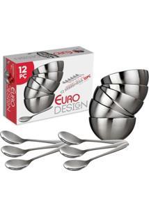 Conjunto De Sobremesa 12Pçs Aço Inox Msp4807 Euro Home