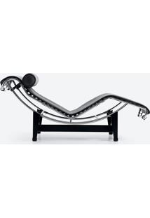 Chaise Lc4 Inox Couro Bege