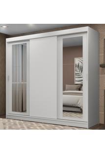 Guarda-Roupa Casal Madesa Kansas 3 Portas De Correr Com Espelhos 3 Gavetas Branco - Branco - Dafiti