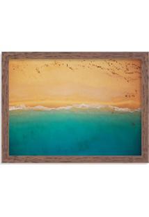 Quadro Decorativo Praia E Areia Madeira - Médio