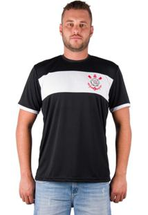 Camiseta Corinthians - Masculino-Preto+Branco