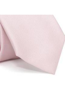 Gravata Cerimonial Com Desenho Falso Liso Em Poliéster Rosa Textura Small