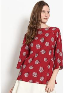 Blusa Floral - Vinho & Branca - Malweemalwee