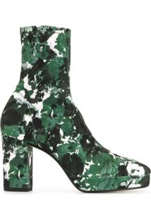 Kenzo Ankle Boot Glove Aquarelle Com Plataforma - Verde