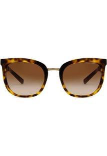 Óculos De Sol Armani Exchange Tartaruga Brilhante Feminino - Feminino