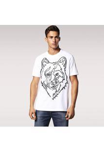 Camiseta Diesel T-Joe-Rp Masculina - Masculino-Branco