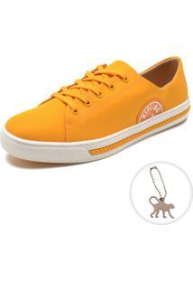 Tênis Kipling Pesponto Amarelo