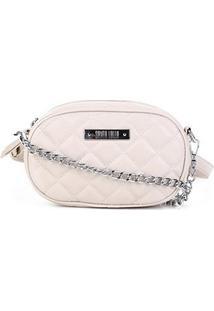 Bolsa Santa Lolla Mini Bag Matelassê Feminina - Feminino-Areia