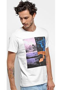 Camiseta Stanley Básica Hibisco Masculina - Masculino-Branco