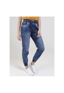 Calça Jeans Jogger Feminina Azul