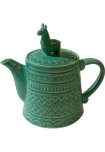Bule De Chá Em Cerâmica Verde Lhama Urban Home