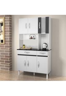 Cozinha Compacta Ventura 6 Pt 2 Gav Branco Com Preto