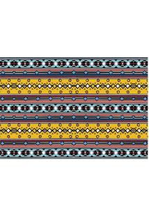Tapete Abstrato- Amarelo & Azul Claro- 60X40Cm- Tapetes Junior