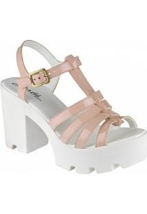 Sandalia Barth Shoes Misty Branco - Feminino-Rosa+Branco