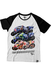 Camiseta Motogp Fan Riders - Branca/Preta Grid Motors Fan Riders Branco/Preto