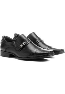Sapato Social Mariner Fivela Masculino - Masculino-Preto
