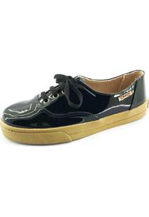 Tênis Quality Shoes Feminino 005 Verniz Preto 40
