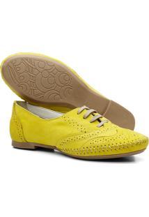 Sapato Oxford Mocassim Casual Amarelo