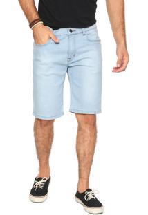 Bermuda Jeans Rusty Reta Tape Azul