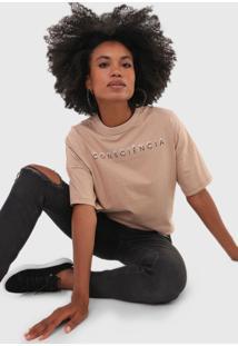 Camiseta Colcci Lettering Bege - Bege - Feminino - Algodã£O - Dafiti