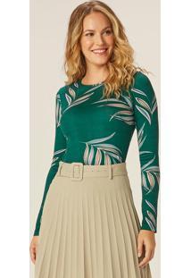 Blusa Verde Tropical Em Viscose