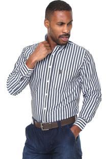 Camisa Aleatory Listrada Branca/Cinza
