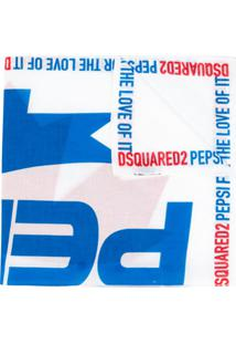 Dsquared2 Echarpe Com Estampa Pepsi - Branco