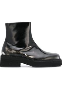 Marni Ankle Boot Com Zíper Lateral - Preto