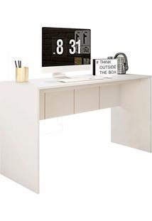 Mesa De Escritório Cubic Branca 136 Cm