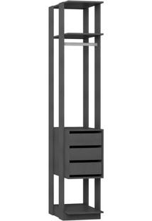 Estante Com Gaveteiro- Espresso- 220X41X44,5Cmbentec