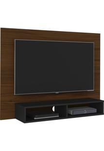 Painel Tv Até 42 Polegadas Flash Imbuia Amêndoa E Preto Artely