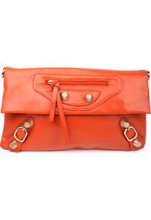 Bolsa Carteira Real Arte Zíper Orange