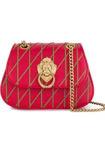 Moschino Bolsa Tiracolo 'Lion Head' - Vermelho
