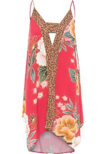 Vestido Curto Floral Sofia - Vermelho