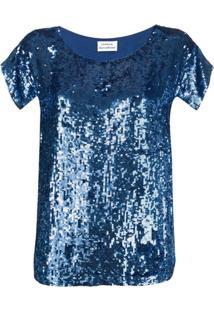 P.A.R.O.S.H. Blusa Com Paetês - Azul