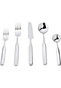 Alessi Collo Alto 24 Piece Cutlery Set - Prateado