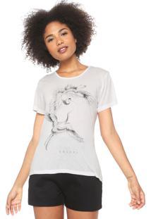 Camiseta Colcci Estampada Branca