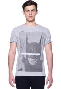 Camiseta Estampada King&Joe Manga Curta Cinza