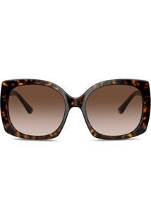 Dolce & Gabbana Eyewear Óculos De Sol Quadrado Family - Marrom