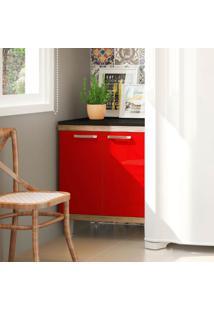 Balcão 70Cm Argila Fosco Texturizado Lacca Ad Vermelho Scarlet