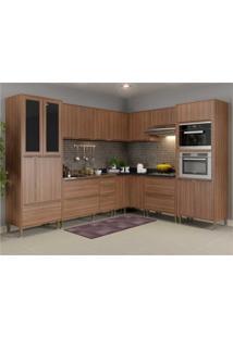 Cozinha Completa Multimã³Veis Com 9 Peã§As Calã¡Bria 5461Mf Nogueira - Incolor - Dafiti