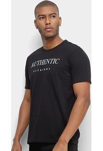 Camiseta Aleatory Authentic Masculina - Masculino-Preto