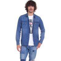 b2fa6a4119 Camisa Jeans Levis Sawtooth Western Azul