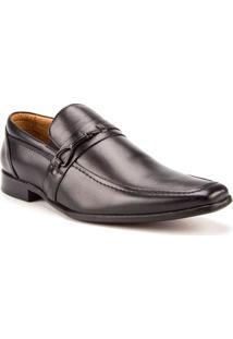 Sapato Masculino Woche Fivela Couro Preto