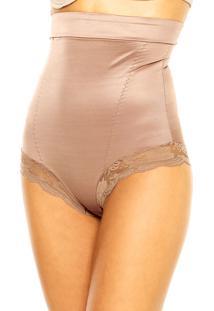Calcinha Modeladora My Lady Slim Lace Marrom