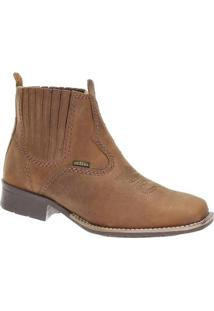 Bota Couro Urbana Boots Masculina - Masculino-Marrom Claro