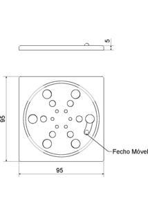 Grelha Fecho Meber Inox Quadrado 2410 C 10 Cm Cromado