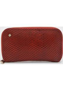 Carteira Capodarte Cobra Vermelha - Vermelho - Feminino - Dafiti