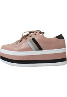 Tênis Damannu Shoes Flatform Becky Rosa San - Feminino-Rosa