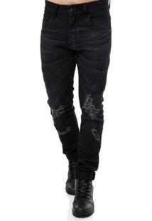 Calça Jeans Masculina Rock & Soda Preto